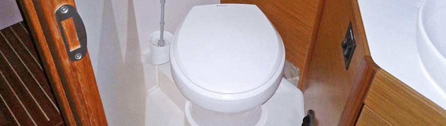 Sanitär an Bord Toilette
